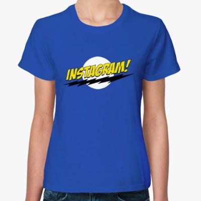 Женская футболка Инстаграм