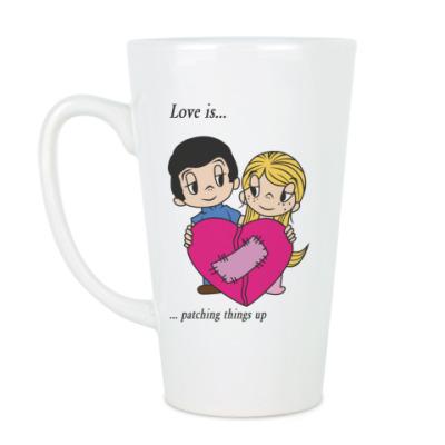 Чашка Латте LOVE IS