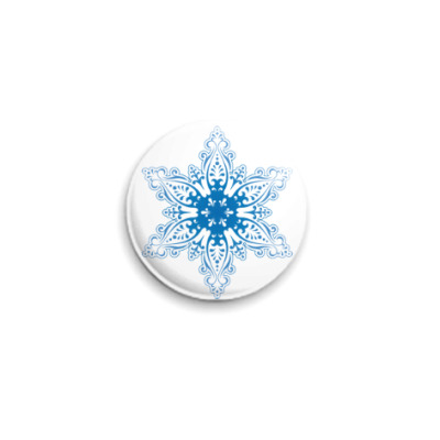 Значок 25мм Снежиночка