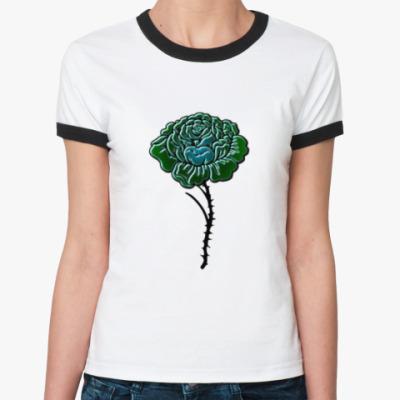 Женская футболка Ringer-T Роза