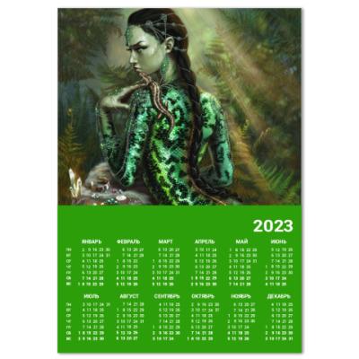 Календарь Ящерица