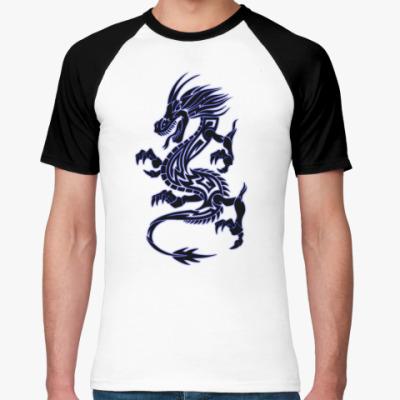 Футболка реглан Татуировка дракона