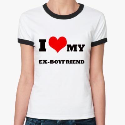 Женская футболка Ringer-T ex-boyfriend