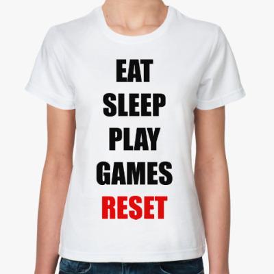 Классическая футболка Играй в игры