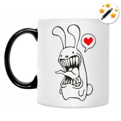 Кружка-хамелеон Белый Кролик