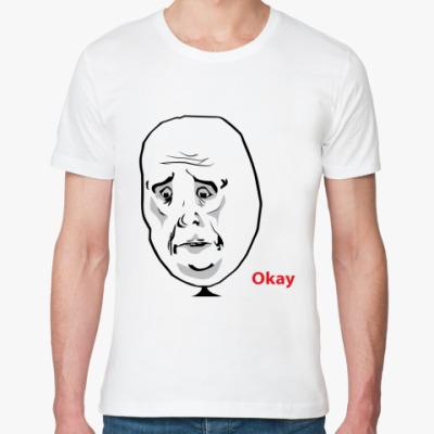 Футболка из органик-хлопка Okay Face