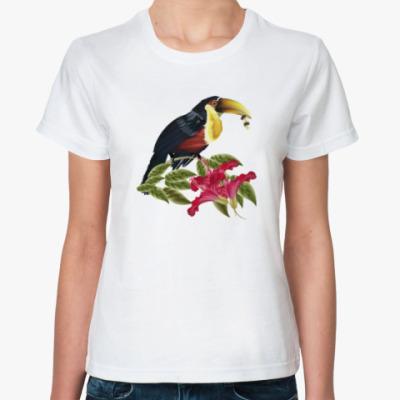 Классическая футболка Красивая птица