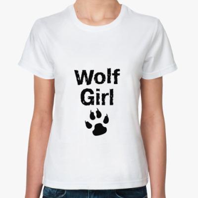 Классическая футболка Wolf girl
