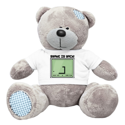Плюшевый мишка Тедди Ретро-принт SNAKE IS BACK!