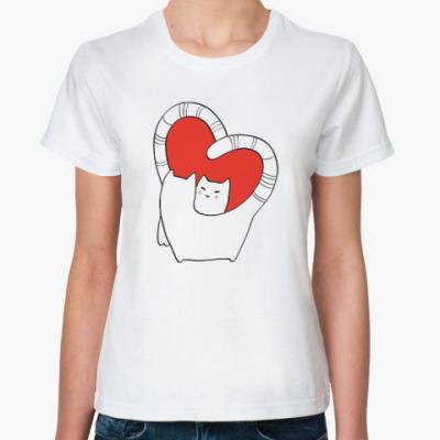 Классическая футболка Котолюбовь