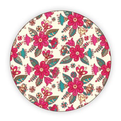 Костер (подставка под кружку) Цветы - паттерн