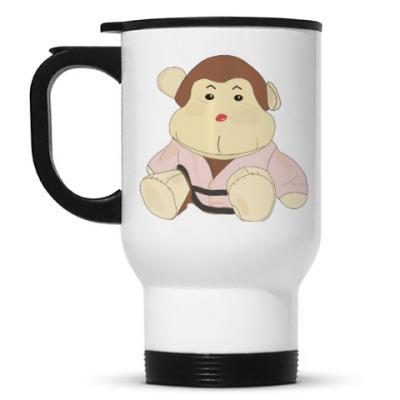 Кружка-термос  обезьянка-каратист