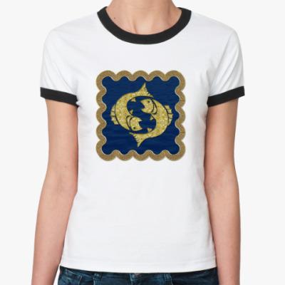 Женская футболка Ringer-T Рыбы