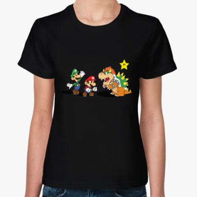 Женская футболка Super Mario, Luigi, Bowser / Супер Мари, Луиджи