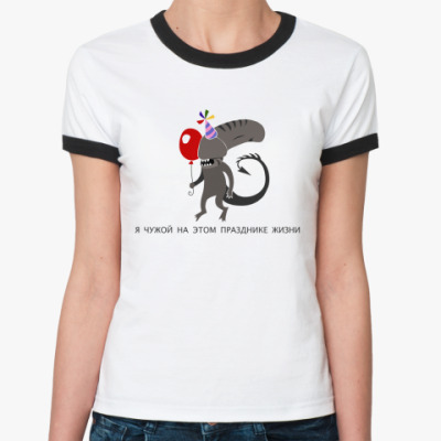 Женская футболка Ringer-T alien Limited Edition
