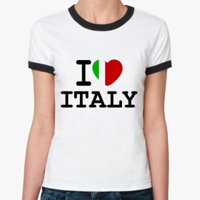 Женская футболка Ringer-T   I Love Italy