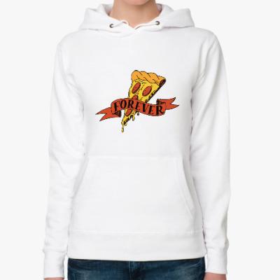 Женская толстовка худи Pizza forever