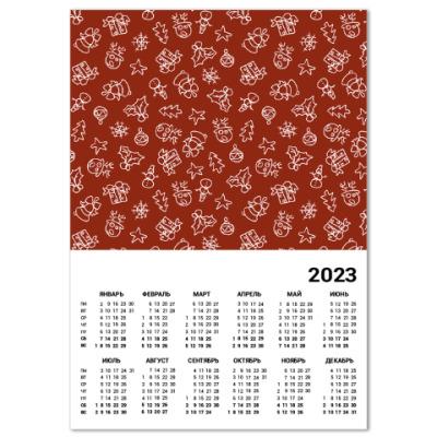 Календарь Новогодний узор