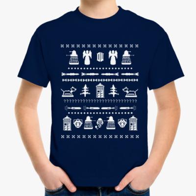 Детская футболка Doctor Who орнамент