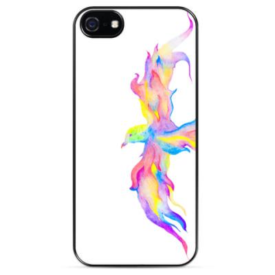 Чехол для iPhone Радужная птица