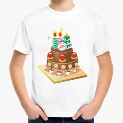 Детская футболка Рождественский торт