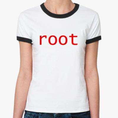 Женская футболка Ringer-T root