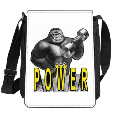 Сумка-планшет 'Сильная обезьяна'