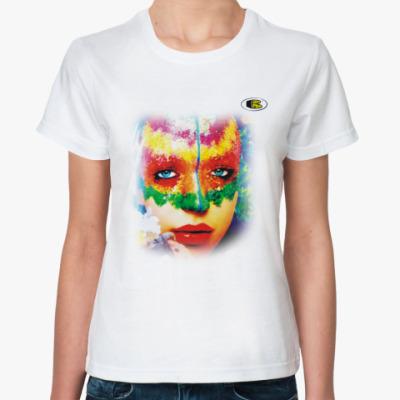 Классическая футболка Коралловая девушка