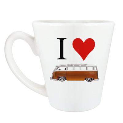 Чашка Латте I Love Bus