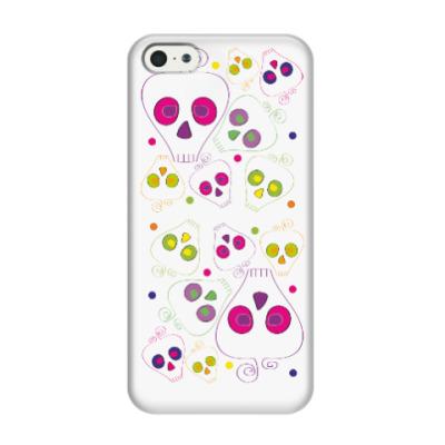 Чехол для iPhone 5/5s Цветные черепушки