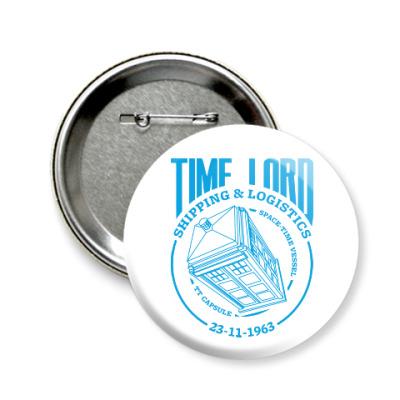 Значок 58мм Time Lord