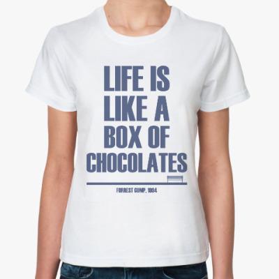 Классическая футболка Коробка Конфет (Форрест Гамп)