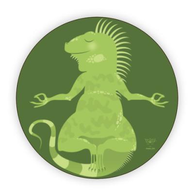 Костер (подставка под кружку) Animal Zen: I is for Iguana
