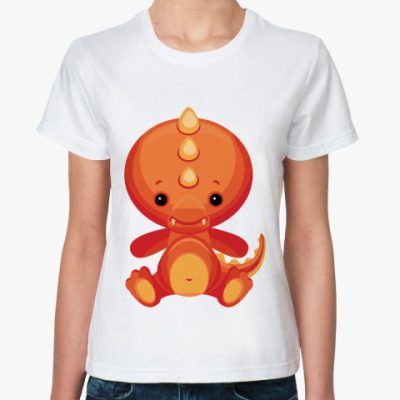 Классическая футболка Дракоша Тедди