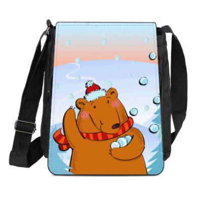 Сумка-планшет Медведь