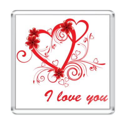 Магнит I love you