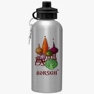 Спортивная бутылка/фляжка 'Борщ'