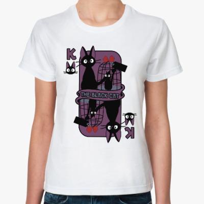 Классическая футболка Черная Кошка
