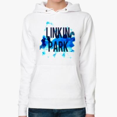 Женская толстовка худи LINKIN PARK BLUE