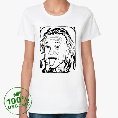 Женская футболка из органик-хлопка Эйнштейн