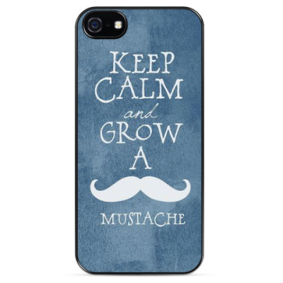 Чехол для iPhone KEEP CALM AND GROW A MUSTACHE