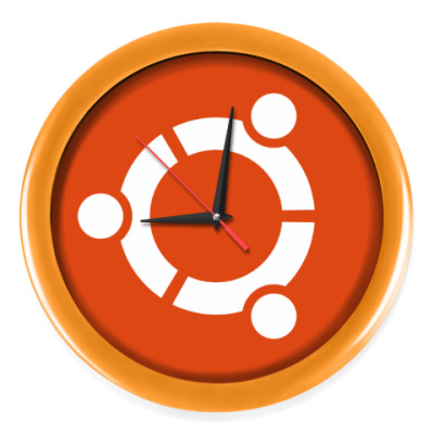 Настенные часы Ubuntu