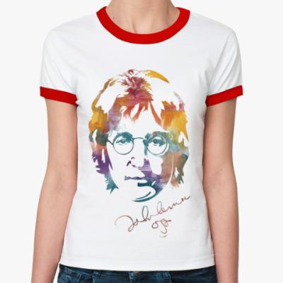 Женская футболка Ringer-T The Beatles - John Lennon