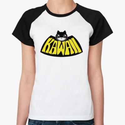 Женская футболка реглан Kawaii Batman