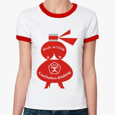 Женская футболка Ringer-T Cool before