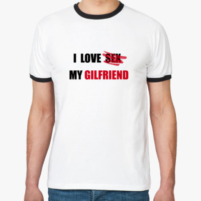 Футболка Ringer-T I Love Sex