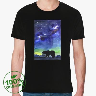 Футболка из органик-хлопка Медведь и северная ночь
