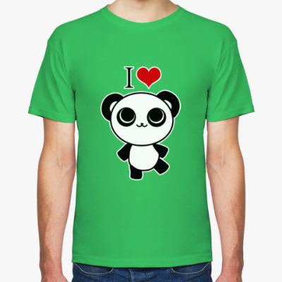 Футболка Я люблю панд