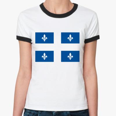 Женская футболка Ringer-T Quebec