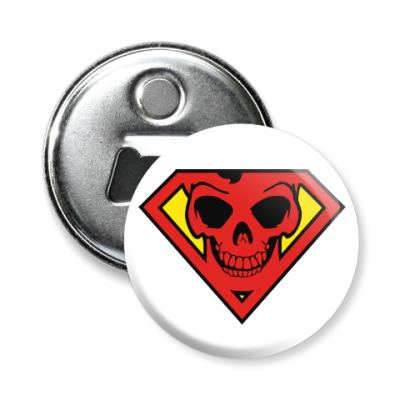 Магнит-открывашка Skull Superman